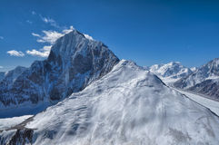 Mountain peak in Tajikistan Stock Photo