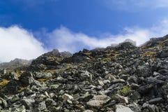 On mountain peak Stock Photography