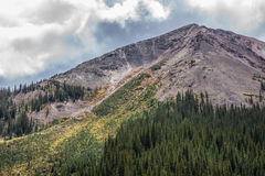 Mountain Peak under Cloudy Sky Royalty Free Stock Photography