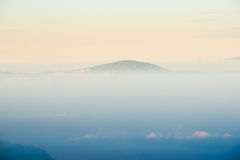 Mountain peak view with cloud at early morning Royalty Free Stock Photo