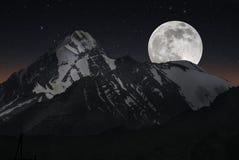The mountain peak Royalty Free Stock Photo