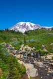 Mountain Peak & Waterfalls Royalty Free Stock Image