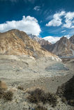 mountain peak on the way to passu glacier, Hunza Valley, norther stock photo