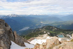 Mountain peak, Whistler. The peak of Whistler blackcomb Royalty Free Stock Image