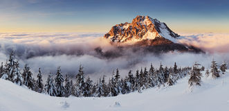 Mountain peak at winter - Roszutec Royalty Free Stock Images