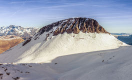 Mountain peak in winter time. French alps royalty free stock photography