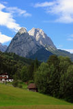 Mountain Peaks. Beautiful Mountain Peaks of Bavaria Royalty Free Stock Photo