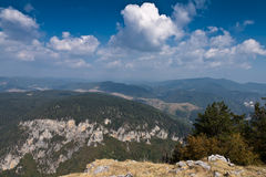 Mountain peaks. View from Mount St. Elias to the northern Rhodopes, Bulgaria Stock Image