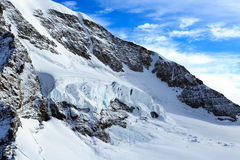 A glacier in the Jungfrau region of Switzerland Stock Image