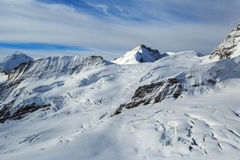 Mountain peaks in the Jungfrau region of Switzerla Stock Photography