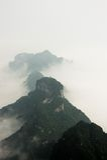 Mountain Peaks above the Clouds in Tianmen Mountain National Park, Zhangjiajie, China. Mountain Peaks above the Clouds in Tianmen Mountain National Park Royalty Free Stock Photos