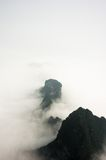 Mountain Peaks above the Clouds in Tianmen Mountain National Park, Zhangjiajie, China Royalty Free Stock Photo