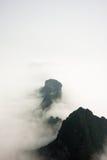 Mountain Peaks above the Clouds in Tianmen Mountain National Park, Zhangjiajie, China. Mountain Peaks above the Clouds in Tianmen Mountain National Park Royalty Free Stock Photo