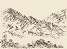 Mountain peaks. Altitude landscape and flora Stock Photos