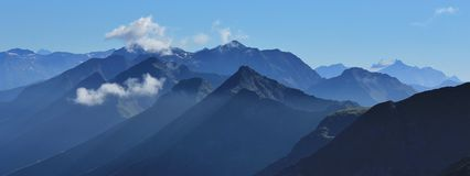 Mountain peaks in the Bernese Oberland Royalty Free Stock Photos