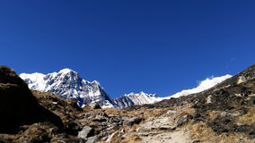 Mountain peaks with blue sky Stock Photography