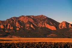 Mountain Peaks in Boulder Colorado. With morning light Royalty Free Stock Photos