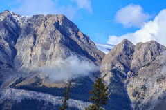 Mountain peaks of Canada Stock Photo