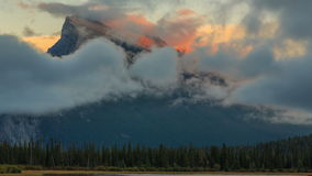 Mountain peaks in Canada stock video footage