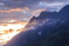 Mountain peaks with cloud and fog Royalty Free Stock Photography