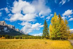 Mountain peaks and clouds royalty free stock image