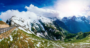 Mountain peaks covered with snow Royalty Free Stock Image