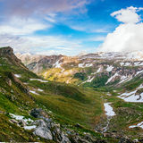 Mountain peaks covered with snow Stock Image