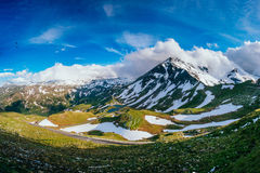 Mountain peaks covered with snow Royalty Free Stock Photos