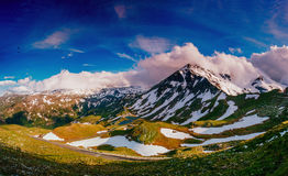Mountain peaks covered with snow Royalty Free Stock Photography