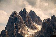Mountain peaks  in dolomites Stock Images