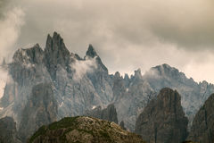 Mountain peaks  in dolomites Royalty Free Stock Images