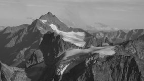 Mountain peaks and glacier in Switzerland Royalty Free Stock Images