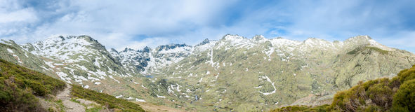 Mountain peaks of Gredos along with winter snow rests Royalty Free Stock Photos