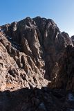 Mountain peaks of High Atlas in Toubkal national park, Morocco Stock Photos