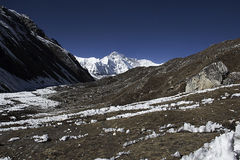 Mountain. Peaks in high himalayas in nepal Stock Photo