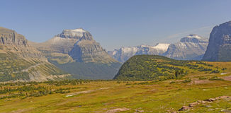 Mountain Peaks from a High Pass Royalty Free Stock Photos