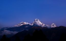 Mountain peaks in the Himalayas of central Nepal Royalty Free Stock Image