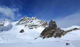 Mountain peaks in the Jungfrau region of Switzerland Royalty Free Stock Photos