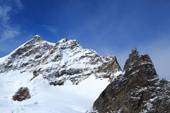 Mountain peaks in the Jungfrau region of Switzerland Royalty Free Stock Photo