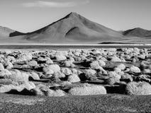 Mountain peaks at Laguna Colorada in Bolivia Royalty Free Stock Image
