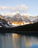 Mountain peaks and lake Royalty Free Stock Photography