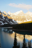 Mountain peaks and lake Stock Photo