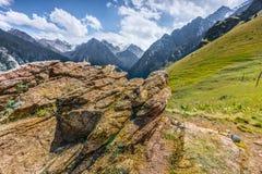 Mountain peaks  landscape stone Central Asia Kazakhstan Stock Image
