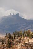 Mountain Peaks in Mist Stock Photos