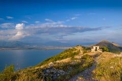 Mountain peaks on Montenegro and Albania border Stock Photo
