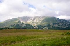 Mountain peaks in the national park Durmitor in Montenegro Royalty Free Stock Photo