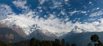 Mountain peaks in the Nepal Himalaya Stock Photo