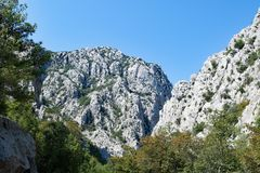 Mountain Peaks in Paklenica National Park, Croatia. royalty free stock images