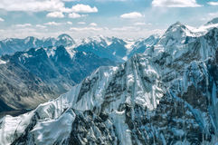 Mountain peaks in Pamir Stock Image