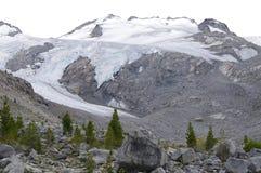 Mountain peaks at the Pemberton Icefield stock photos